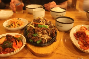 First Meal in Korea