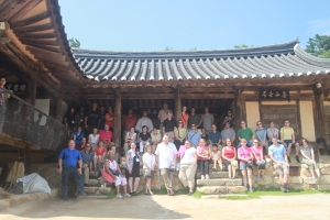 Korea Society Fellows at Ceremonial Pavilion